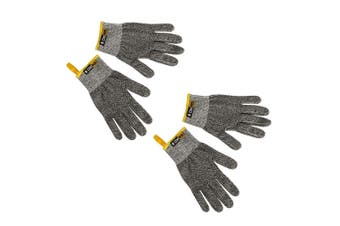 2PK Chef Tech Fibre Knit Cut Resistant Hand Gloves Work Safety Protection Grey