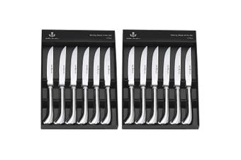 Wilkie Brothers Stirling 12pc Steak Knife Set Stainless Steel Knives Cutlery