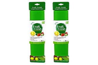 4pc Fruit Fresh Crisper Drawer Liner Vegetable Saver Refrigerator Mat Set Green