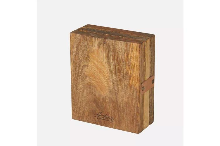Academy 24cm Eliot Universal Wooden Knife Block Cutlery Organiser Holder Storage
