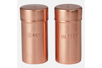 Academy Orwell Copper Metal Vintage Salt & Pepper Shaker Table Kitchen Spice