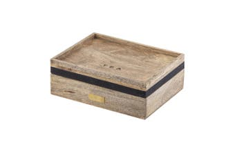 Academy James 25x20x8cm Wood Tea Box Tea Bags Storage Organiser Container w Lid