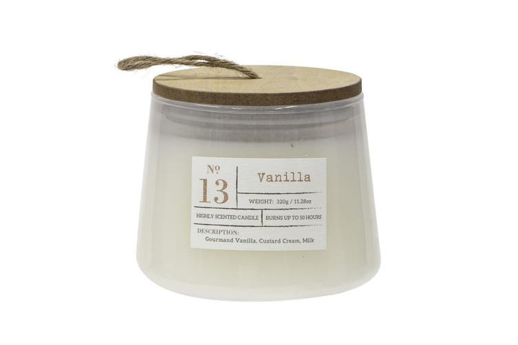 2x Amalfi Vanilla Scented Palm Wax Candle Jar 50 hour Burn Time Party Home Decor