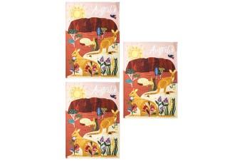 3PK Australiana 50x70cm Outback Australia Kitchen Decor Cotton Cloth Tea Towel