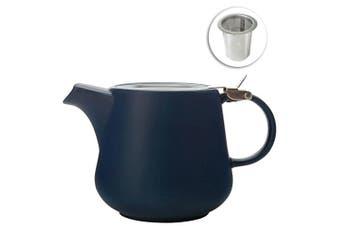 Maxwell & Williams 600ml Tint Navy Teapot w Lid & Removable Infuser Tea Pot Jug
