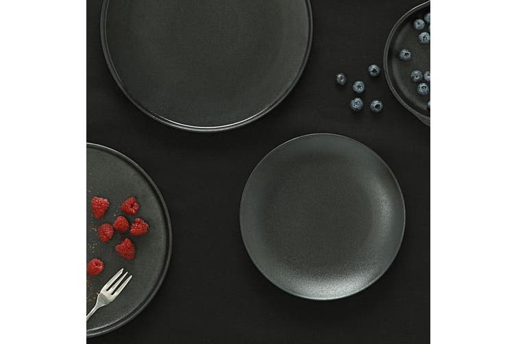 Maxwell & Williams 20cm Caviar Coupe Serving Tableware Side Plate Black