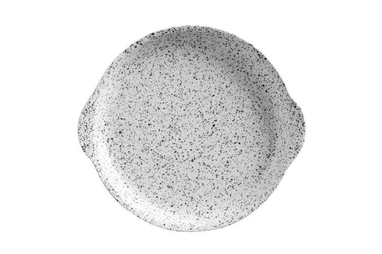 Maxwell & Williams 20x22.5cm Caviar Speckle Round Serving Plate w  Handle Cream
