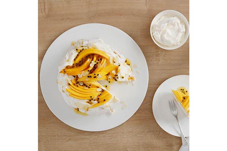 Maxwell & Williams 34cm White Basics Round Pavlova Dessert Serving Plate White