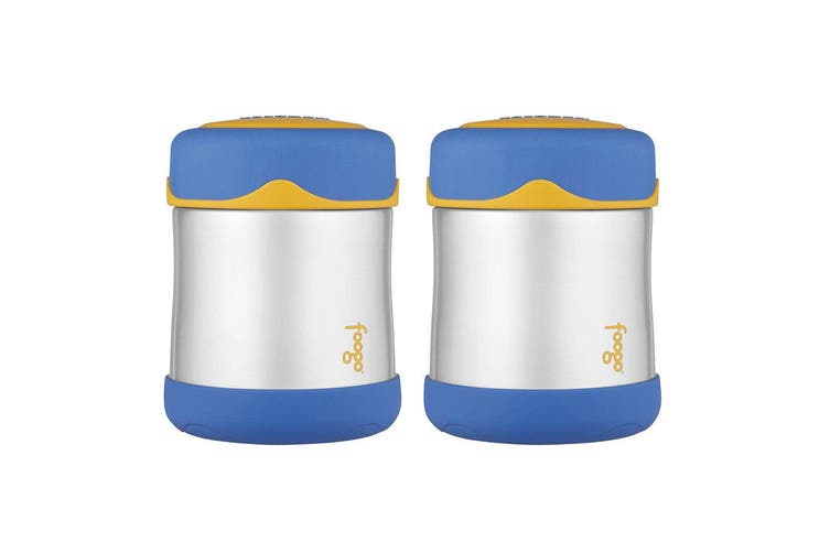2PK Thermos 290ml Foogo Vacuum Insulated Stainless Steel Food Drink Jar Flask BL
