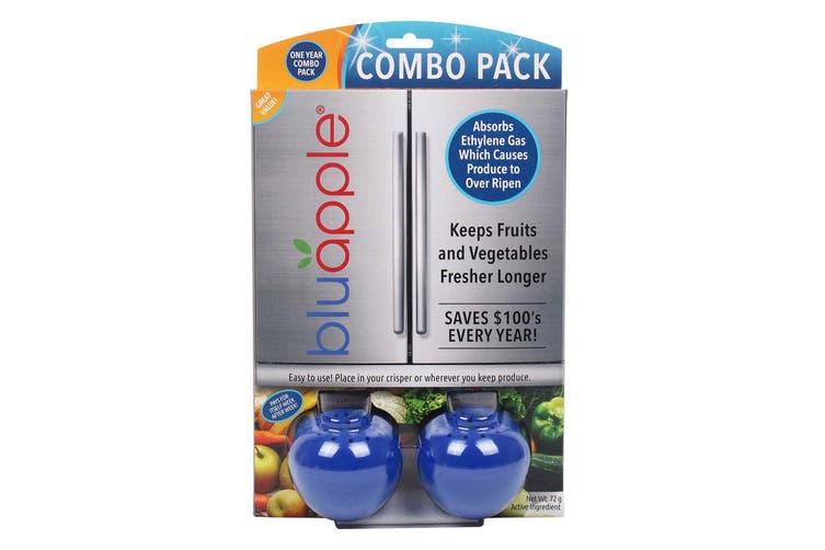 Bluapple 1 Year Combo Pack w  Satchel Refill Fresh Produce Veggie Fruits Keeper