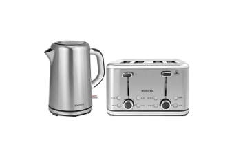 Brabantia 1.7L S S Cordless 2400W Electric Kettle & 4 Slice Bread Toaster Set