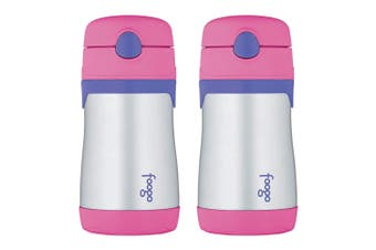 2PK Thermos Foogo 290ml Kids Vacuum Insulated Stainless Steel Drink Bottle Pink