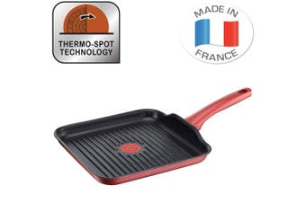 Tefal 26cm Character Grill Pan Induction Safe Aluminium Cookware w  Thermo Spot