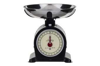 Academy Bronte 5kg Stainless Steel Mechanical Kitchen Scale Measure w  Bowl BLK