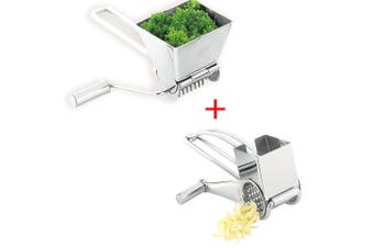 Avanti Stainless Steel Rotary Drum Cheese Grater &  Herbs Mill Cutter Grinder