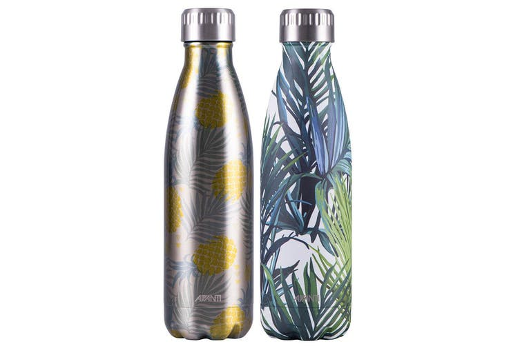 2x Avanti 500ml Water Vacuum Thermo Bottle 2 Wall Stainless Steel Cold Drink PP