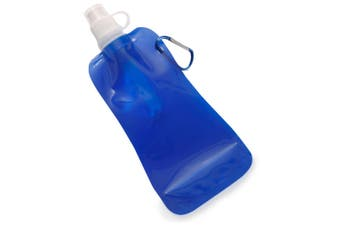 Doozie 450ml Collapsible Portable Water Drink Bottle Gym Sports Kids Adult Blue