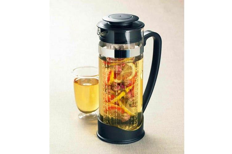Leaf & Bean Lisbon 1.5L Iced Tea Jug Acrylic Infuser Tube Water Pitcher Black