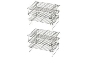 2PK Davis Waddell Essentials 3 Tier Non Stick Cooling Rack Baking Food Display