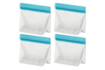 4PK Davis & Waddell 250ml 1 Cup Reusable Bag Ecopocket Leak-Proof Food Storage