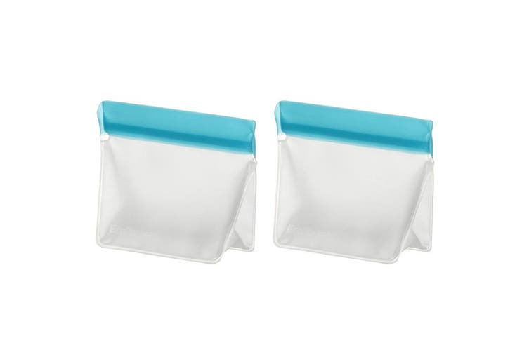 4pc Davis & Waddell 14.5cm 21.5cm Reusable Bag Ecopocket Leak-Proof Food Storage