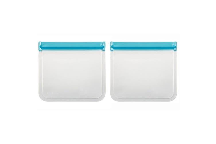 8PK Davis & Waddell 21.5cm Sandwich Reusable Bag Ecopocket Toiletry Food Storage