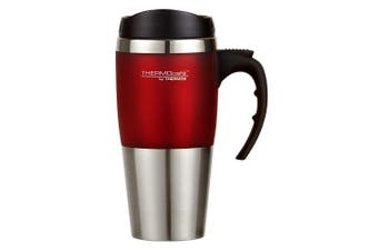 Thermos Cafe 450ml Vacuum Insulated Stainless Steel Hot Cold Travel Mug Flask RD