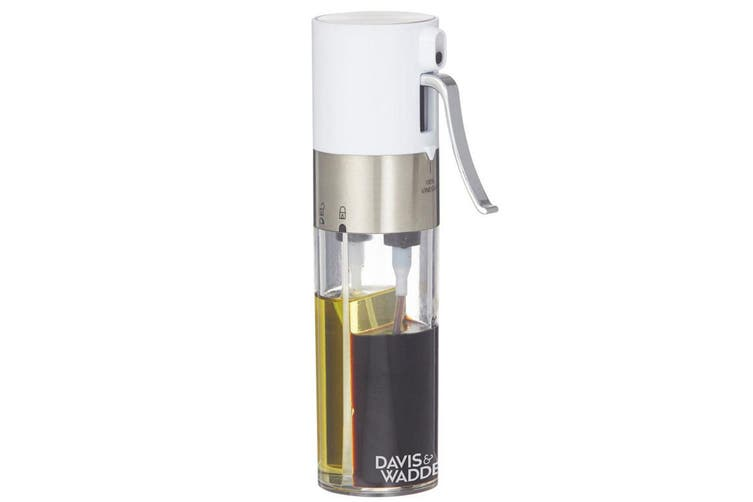 Davis & Waddell 2 in 1 Oil Vinegar Dispenser Tableware Kitchen Stainless Steel