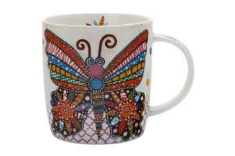 Maxwell & Williams Flutter Smile Style Mug 370ml Butterfly for Coffee Tea Drink