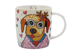 Maxwell & Williams Posey Smile Style Mug 370ml Dog for Coffee Tea Drink