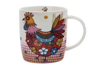 Maxwell & Williams Peggie Smile Style Mug 370ml Hen for Coffee Tea Drink