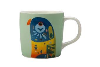 Maxwell & Williams 375ml Pete Cromer Porcelain Lorikeet Mug Cup Glass Coffee Tea