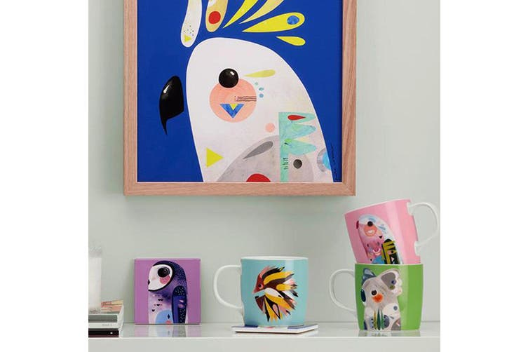 Maxwell & Williams 375ml Pete Cromer Porcelain Parrot Mug Cup Glass Coffee Tea