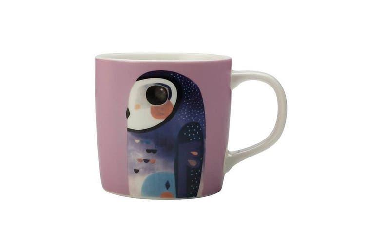 Maxwell & Williams 375ml Pete Cromer Porcelain Owl Mug Cup Glass for Coffee Tea