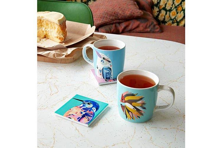 Maxwell & Williams 375ml Pete Cromer Cockatoo Mug Cup Glass for Coffee Tea Drink
