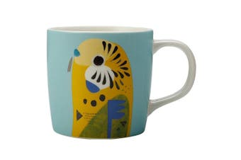 Maxwell & Williams 375ml Pete Cromer Porcelain Budgerigar Mug Cup for Coffee Tea