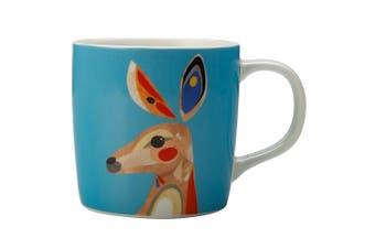 Maxwell & Williams 375ml Pete Cromer Porcelain Kangaroo Mug Cup Glass Coffee Tea