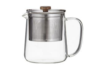 Leaf & Bean 1.2L Glass Tea Filter Coffee Pot w  Stainless Steel Dual Infuser
