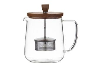 Leaf+Bean 1.2L 8 Cups Glass Naples Teapot with Stainless Steel Infuser
