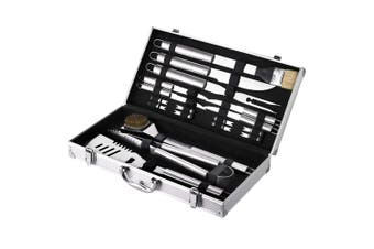 18pc Maverick BBQ Tool Barbecue Tools Outdoor Home Utensil Kit Grill w  Case Set