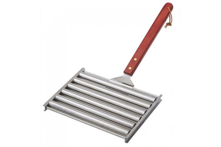 Maverick BBQ Sausage Hotdog Roller Grill Barbecue Fire Camping Stainless Steel