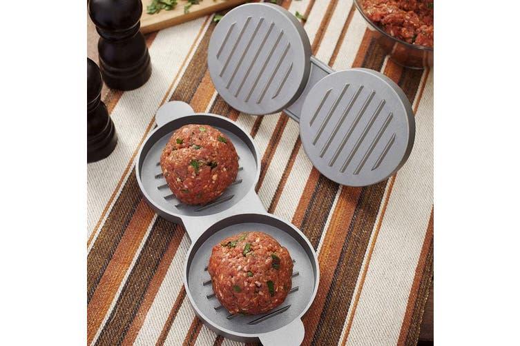 2PK Maverick Double Hamburger Patty Maker Press Non-Stick Burger Beef BBQ Grill