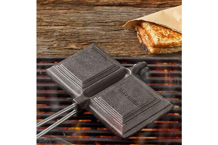 Maverick Double Cast Iron Jaffle Sandwich Toaster Camping Cooker Campfire Fire