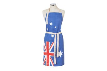 Maverick Australian Flag Cotton Denim Barbecue Cooking Kitchen Chefs Apron Blue