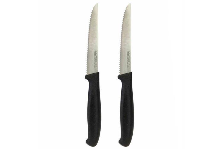 2PK Maverick Nami 11.5cm Steak Knife Stainless Steel Cutlery Dining Serrated