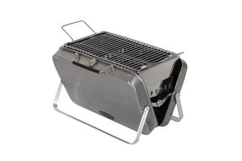 Maverick Into The Wild BBQ Briefcase Portable Outdoor Picnic Charcoal Grill BLK