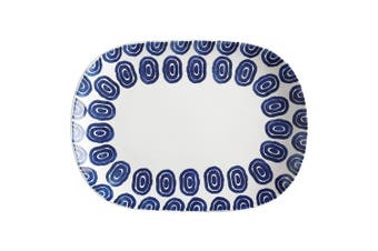 Maxwell & Williams 45x33cm Suomi Oblong Serving Fruits Cheese Platter BLU WHT