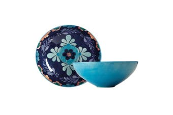 Maxwell & Williams Majolica 31cm Round Food Salad Serving Bowl Ceramic Blue