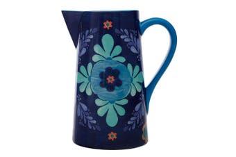 Maxwell & Williams Majolica 2.4L Ceramic Pitcher Water Juice Drinks Jug Blue
