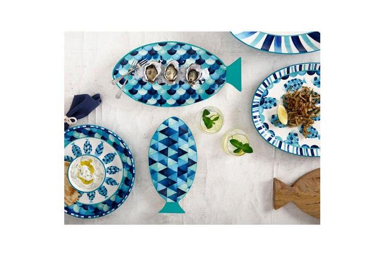 Maxwell & Williams Reef 30cm Round Ceramic Chips Dip Bowl Platter Servingware BL